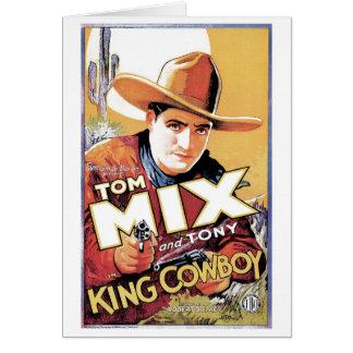 Tom Mix - rey Cowboy Card Tarjeta De Felicitación