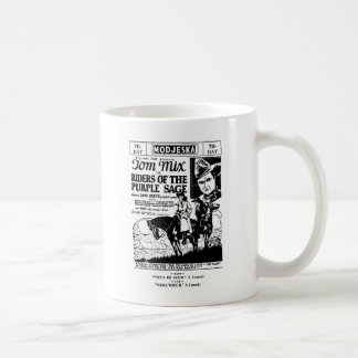 Tom Mix Riders of Purple Sage Western ad 1925 Coffee Mug