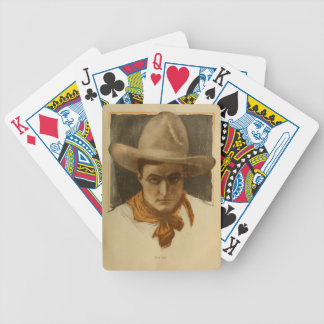 Tom Mix Silent Movie Western Actor 1918 portrait Bicycle Playing Cards