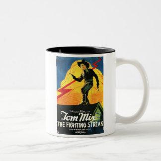 Tom Mix The Fighting Streak 1922 movie poster Coffee Mugs