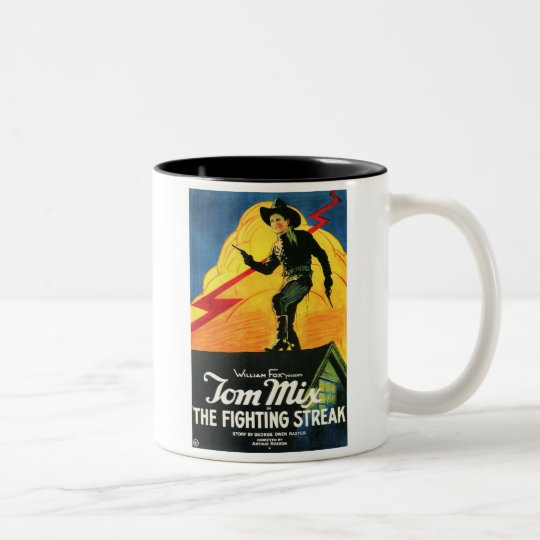Tom Mix The Fighting Streak 1922 movie poster Two-Tone Coffee Mug