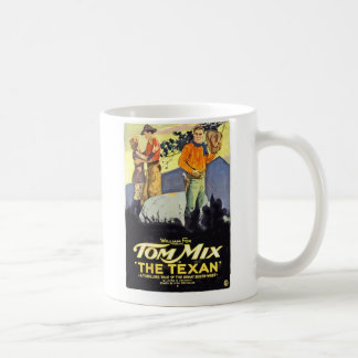 Tom Mix The Texan 1920 vintage movie poster Coffee Mug