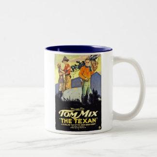 Tom Mix The Texan movie poster Coffee Mugs