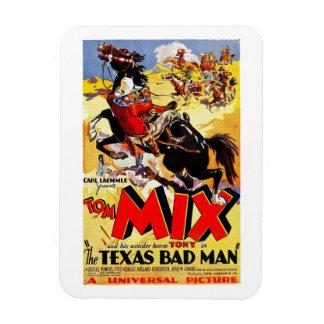 Tom Mix - The Texas Badman Rectangular Magnets