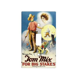 Tom Mix Western silent movie actor horse Light Switch Cover