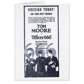 Tom Moore vintage police silent movie ad 1921 Greeting Card