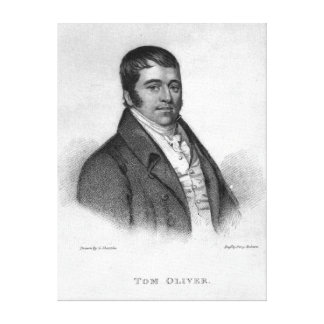 Tom Oliver, engraved by Percy Roberts Canvas Print