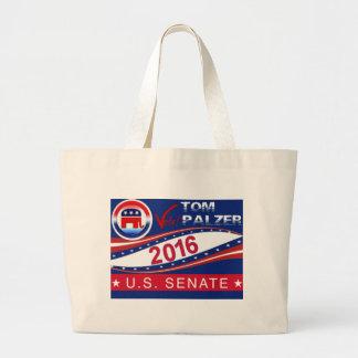 Tom Palzer for U.S. Senate 2016 Large Tote Bag