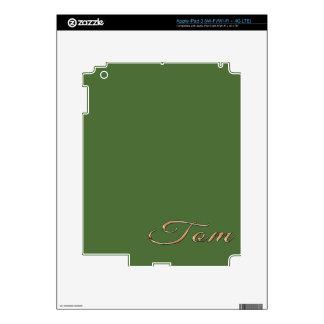 Tom personalizó el regalo de encargo calificado iPad 3 pegatinas skins