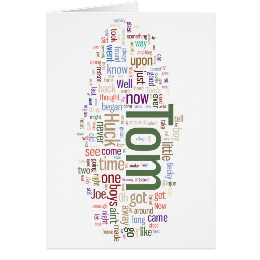 Tom Sawyer Word Cloud Card