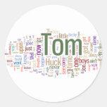 Tom Sawyer Word Cloud Classic Round Sticker