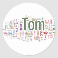 Tom Sawyer Word Cloud