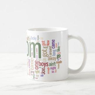 Tom Sawyer Word Cloud Classic White Coffee Mug