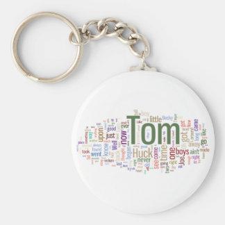 Tom Sawyer Word Cloud Keychain