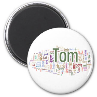 Tom Sawyer Word Cloud Magnet