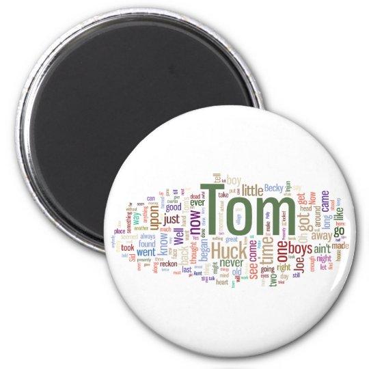 Tom Sawyer Word Cloud Magnet