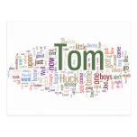 Tom Sawyer Word Cloud Postcard