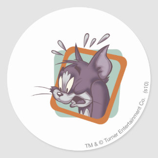 Tom Scaredy Cat Classic Round Sticker