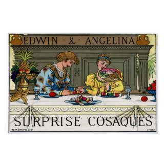 Tom Smith's Surprise Cosaques, 1878 Poster