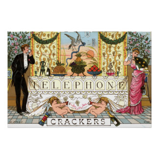 Tom Smith's Telephone Crackers 1878 Poster