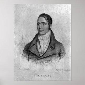 Tom Spring, grabado por Percy Roberts Impresiones