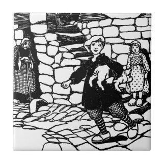 Tom Stole a Pig Nursery Rhyme Ceramic Tile
