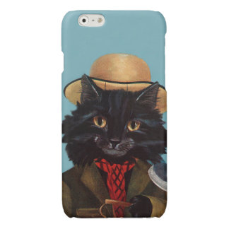 Tom The Cat- Vintage Anthropomorphic Art Glossy iPhone 6 Case