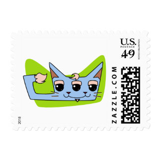 Tom the Toxic Cat Postage Stamps