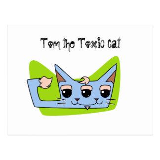 Tom the Toxic Cat Postcard