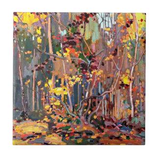 Tom Thomson art: Maple Saplings Ceramic Tile
