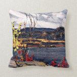 Tom Thomson - Autumn, Algonquin Park Throw Pillows