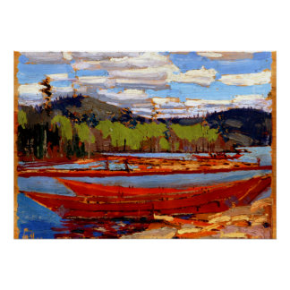 Tom Thomson - barcos Póster