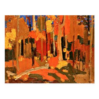 Tom Thomson - color del otoño Postales