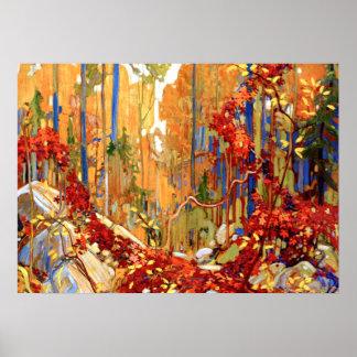 Tom Thomson - la guirnalda del otoño Póster