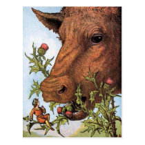 """""""Tom Thumb and the Cow"""" Illustration Postcard"""