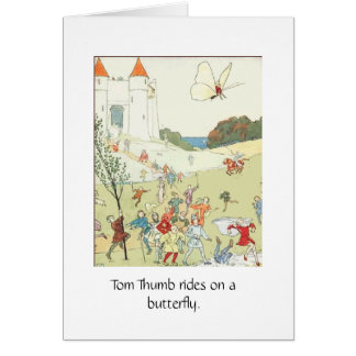 Tom Thumb on a Butterfly Card