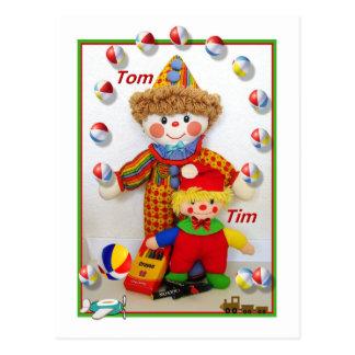 "TOM & TIM  ""Get well"" Postcard"
