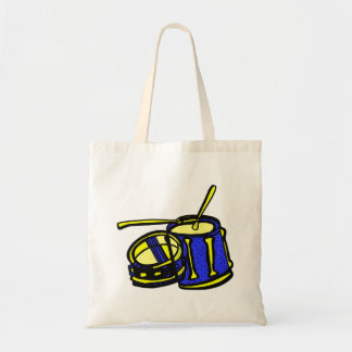Tom Upside Down Snare Graphic BLue Yellow Tote Bag