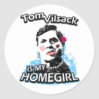Tom Vilsack is my homegirl Classic Round Sticker