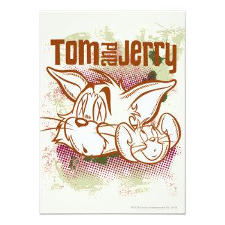 Tom y Jerry Brown y verde Comunicado Personalizado