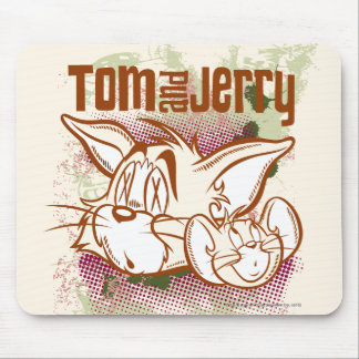 Tom y Jerry Brown y verde Alfombrilla De Ratones