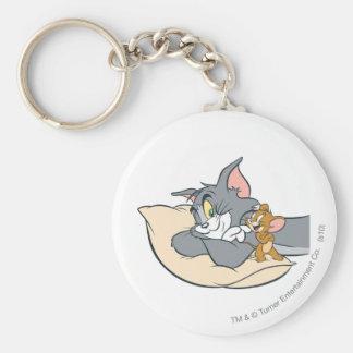 Tom y Jerry en la almohada Llaveros