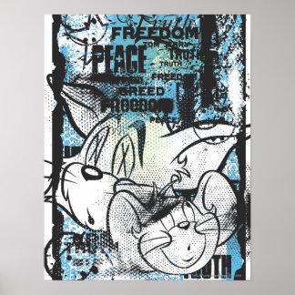 Tom y Jerry Grimey Póster