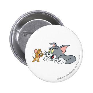 Tom y Jerry hace caras Pin Redondo De 2 Pulgadas