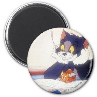 Tom y Jerry leyó un libro Imán Redondo 5 Cm