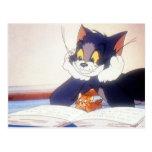 Tom y Jerry leyó un libro Tarjeta Postal