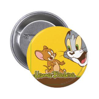 Tom y Jerry Pin Redondo De 2 Pulgadas