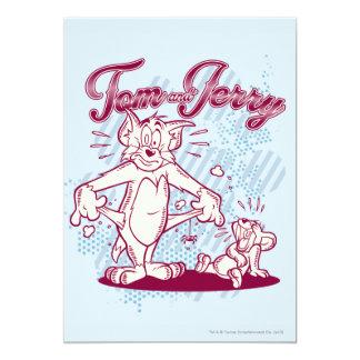 Tom y Jerry se rompió Invitación Personalizada