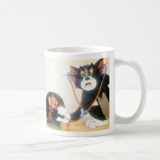 Tom y Jerry Stethescope Taza De Café