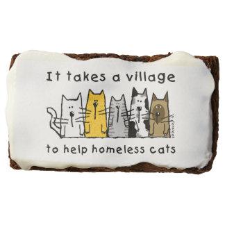 Toma a ayuda del pueblo gatos sin hogar los